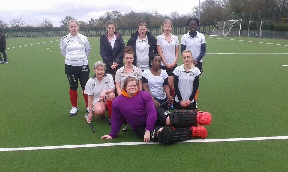 Abingdon Ladies's 3s 2014-15 Back row (L-R): Michelle L, Elen, Kat, Johanna, Charlotte Middle row (L-R): Sarah, Catherine, Michelle S, Izzy Front row: Nat (GK)