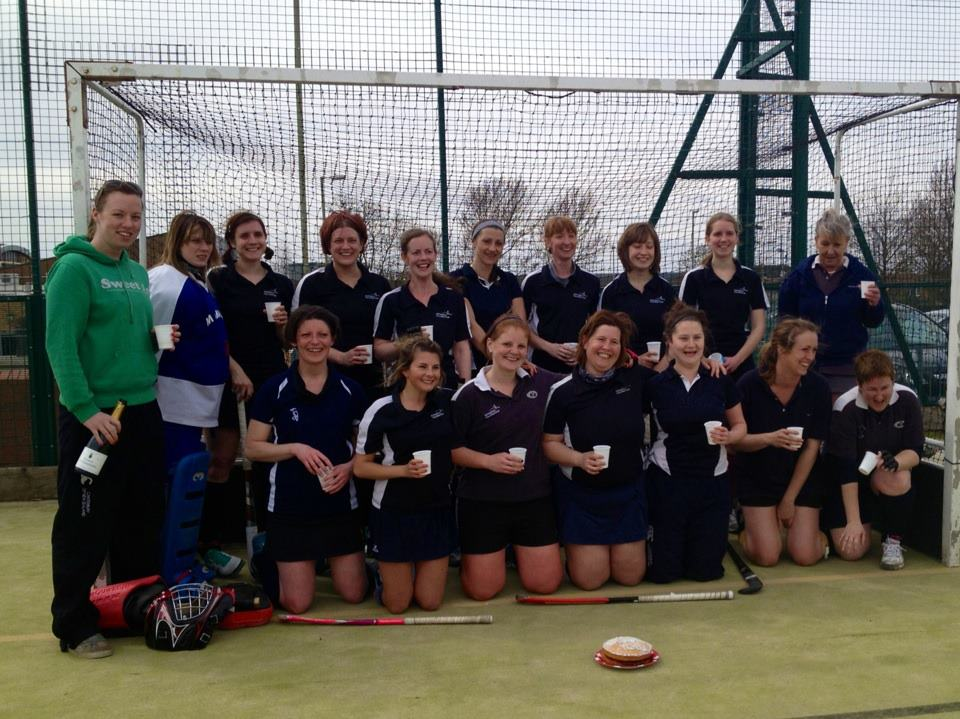 Ladies' 2s 2012-13 L-R (back row): Lou (coach), Kat (GK), Jen, Kirsty, Gemma, Kate, Jo, Mary, Claire, Sarah L-R (front row): Fiona, Leanne S, Louise, Sally, Leanne H, Georgia, Kirby (captain)